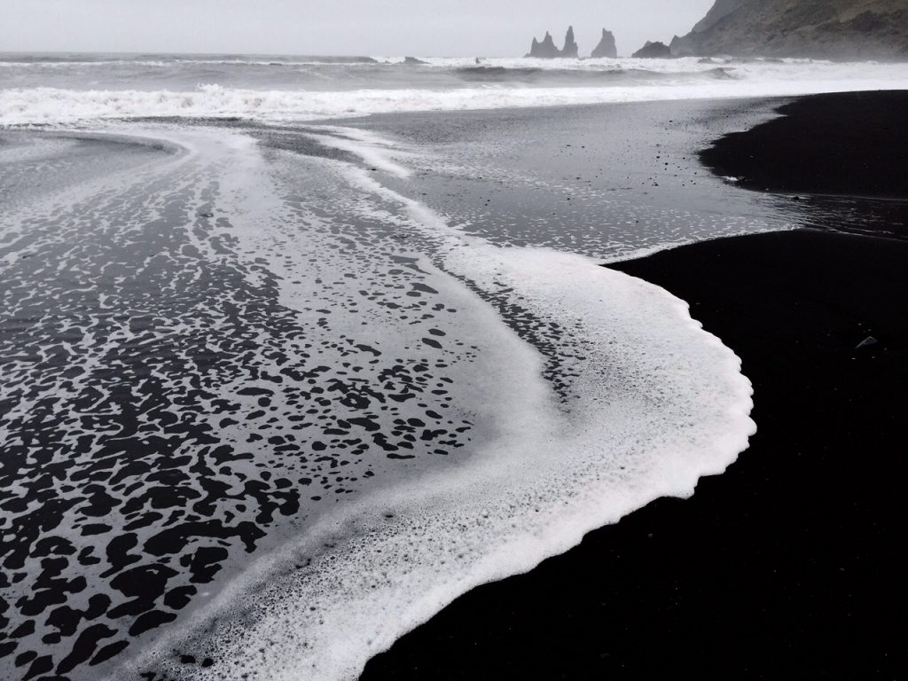 Black Sand Beach Iceland photography by Barb Tillman