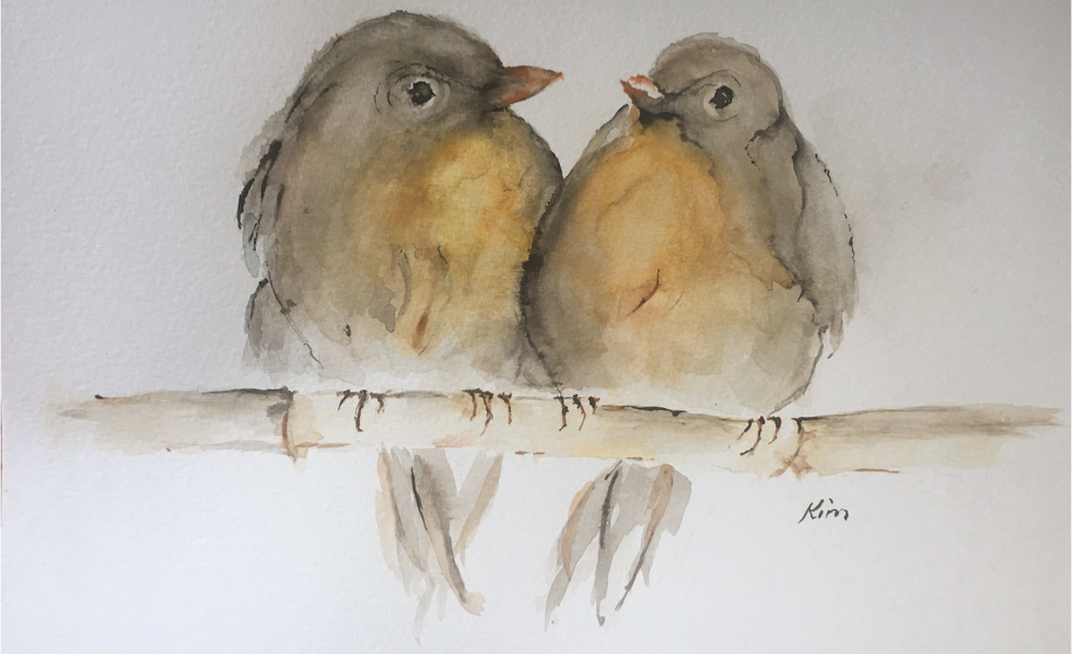 Two Birds painted by Kim Knuth